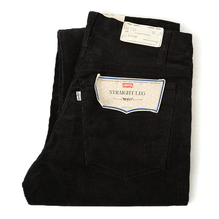 LEVIS 519-1558 CORDUROY PANTS( BLACK/DEADSTOCK )