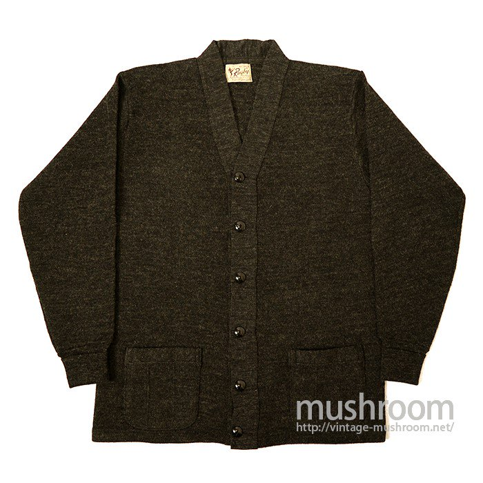 RUGBY TWO-POCKET WOOL CARDIGAN( DEADSTOCK )