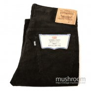 LEVIS 517-1558 BLACK CORDUROY PANTS( DEADSTOCK )