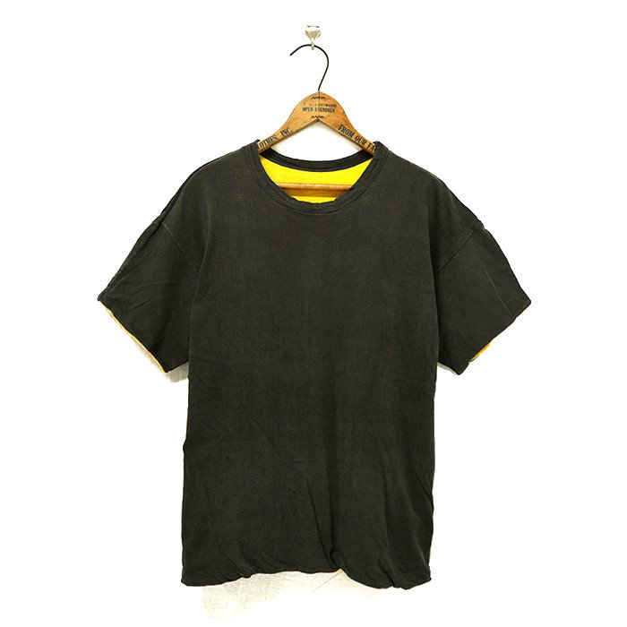 CHAMPION BLACK AND YELLOW REVERSIBLE T-SHIRT