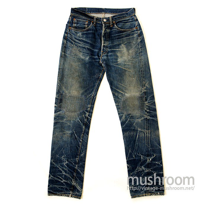 LEVIS 501 BIGE A OR S TYPE JEANS( SUPER TIGER STRIPE )