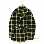 OLD PLAID BLANKET WOOL MACKINAW