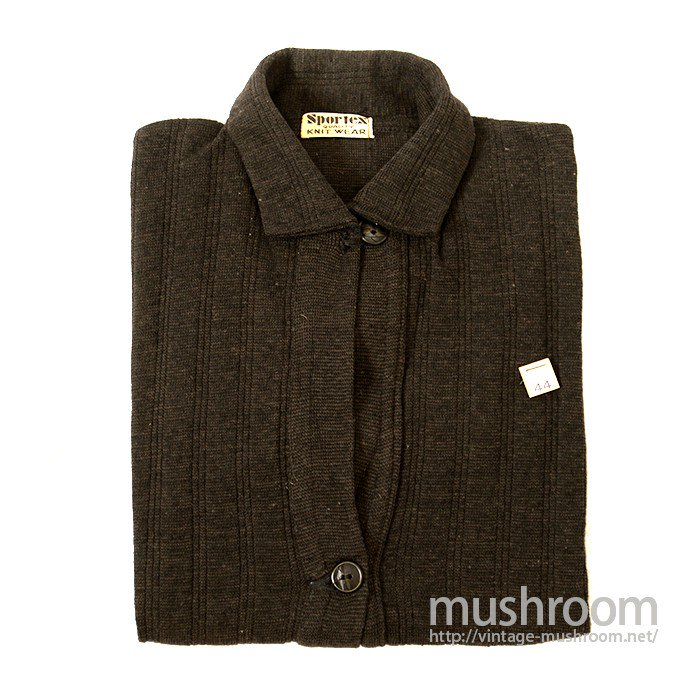 SPORTEX KNIT WEAR COTTON AND WOOL CARDIGAN( DEADSTOCK )
