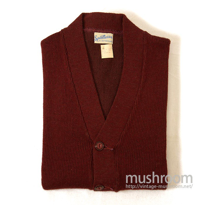 SPORTSWEAR COTTON AND WOOL CARDIGAN( DEADSTOCK )