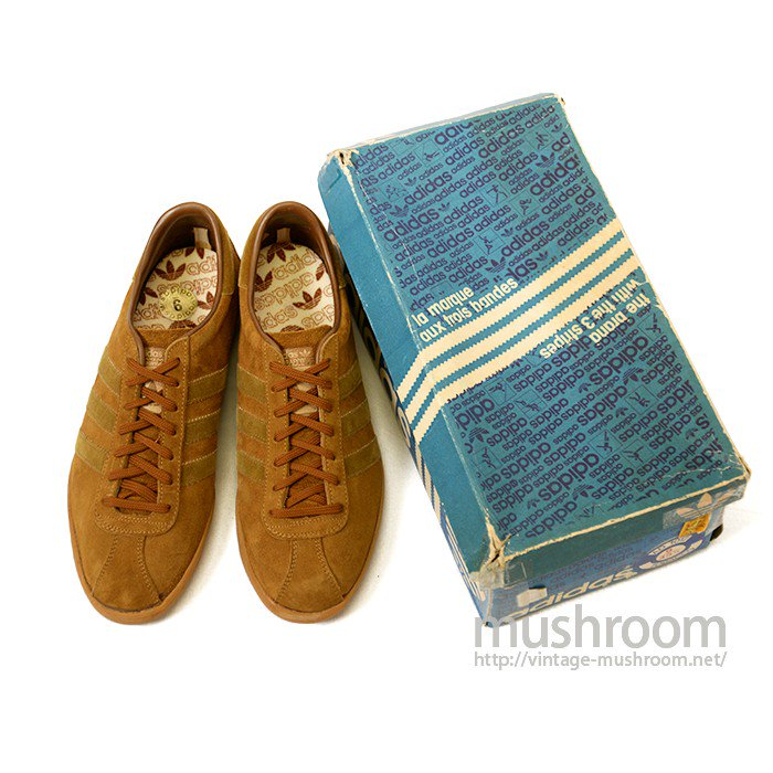 ADIDAS TOBACCO SUEDE SHOES( DEADSTOCK )
