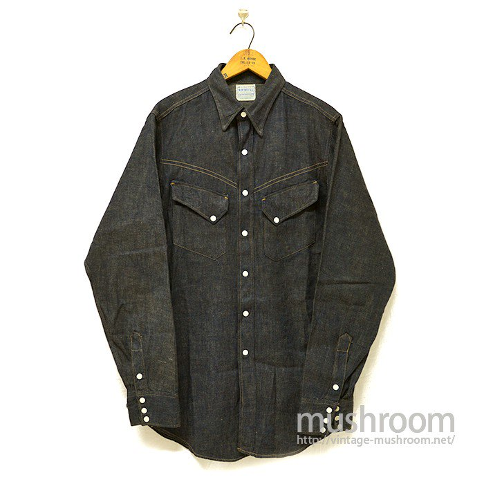 ROEBUCKS DENIM WESTERN SHIRT( DEADSTOCK )