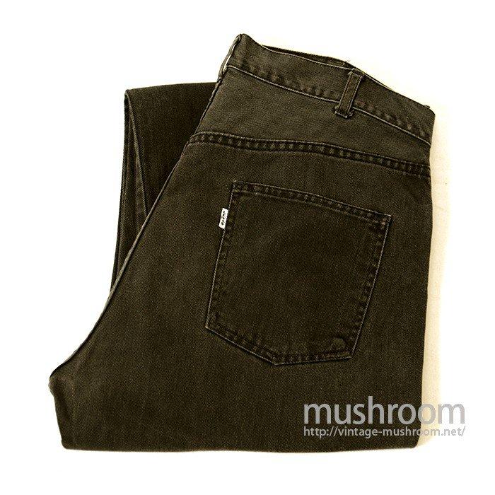 LEVIS 518 BIGE BLACK COTTON TAPERED PANTS