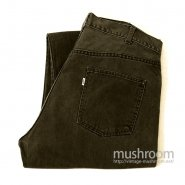 LEVIS 518 BIGE BLACK COTTON TAPERED PANTS
