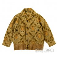 JUNGLE JAC TIGER FACE PRINTED WOOL SPORTS JACKET( DEADSTOCK )