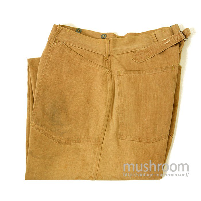 WW1 U.S.ARMY BROWN DENIM TROUSER WITH BUCKLEBACK