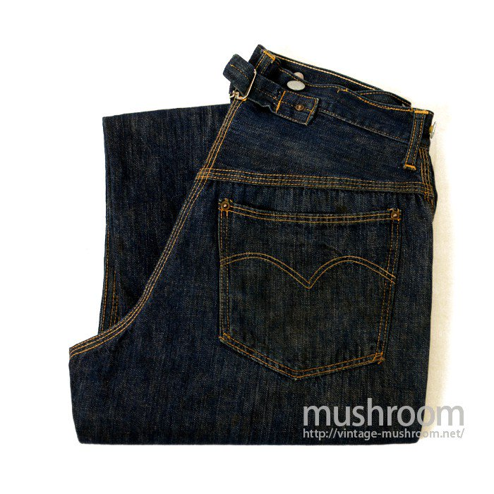 OLD DENIM TROUSER WITH BUCKLEBACK