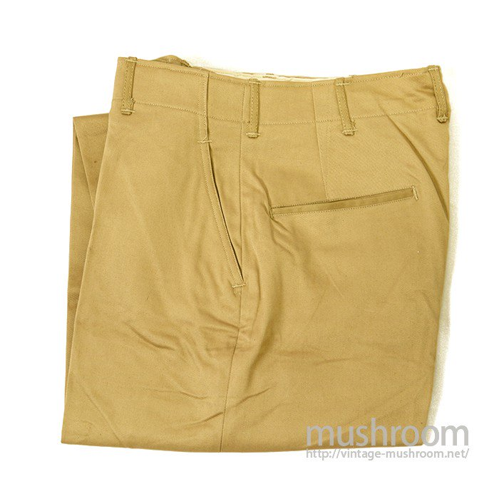 U.S.ARMY M-45 KHAKI CHINO TROUSER( DEADSTOCK )