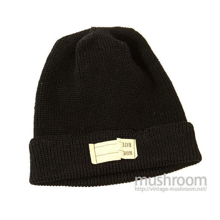 WW2 U.S.NAVY KNIT CAP WITH STENCIL( NON-WASHED )