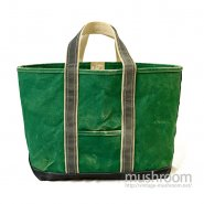 L.L.BEAN CANVAS TOTE BAG( GREEN AND NAVY )