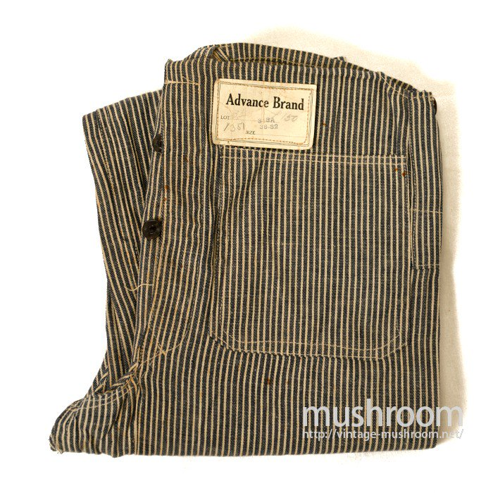 ADVANCE BRAND HICKORY-STRIPE OVERALL( DEADSTOCK )