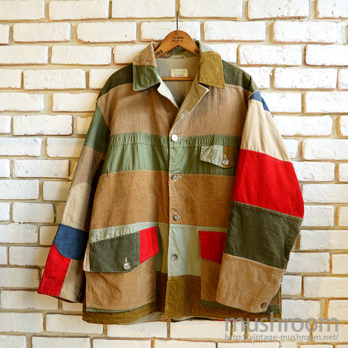 ABERCROMBIE & FITCH PATCHWORK SAFARI JACKET( MINT )