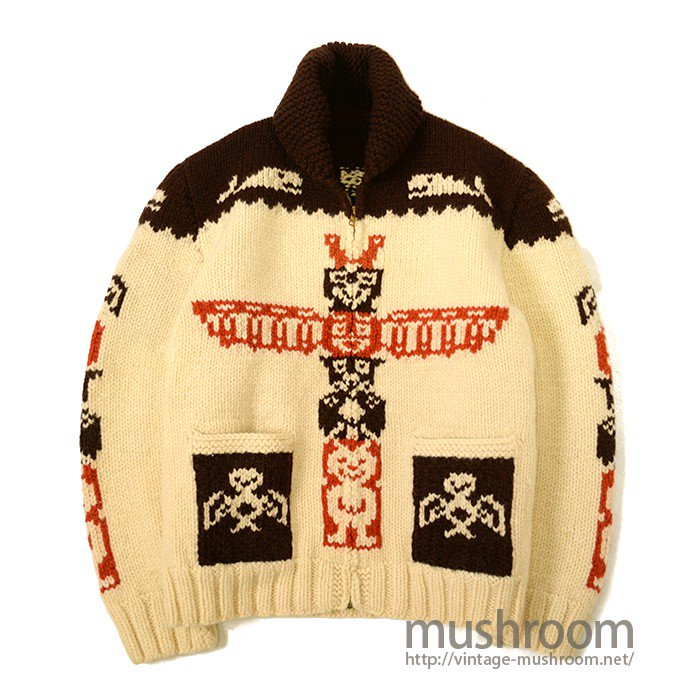 OLD COWICHAN WOOL JACKET( TOTEM POLE )