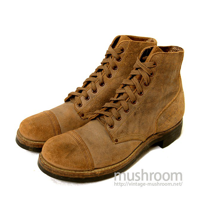 WW2 U.S.NAVY ROUGHOUT CAP-TOE BOOTS( DEADSTOCK )