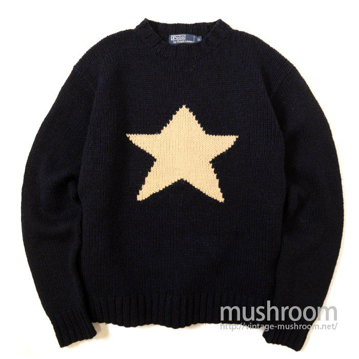 RALPH LAUREN HAND-KNIT SWEATER( STAR )