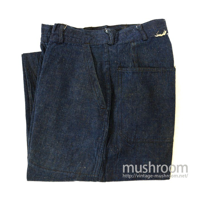 U.S.NAVY DENIM TROUSER WITH STENCIL