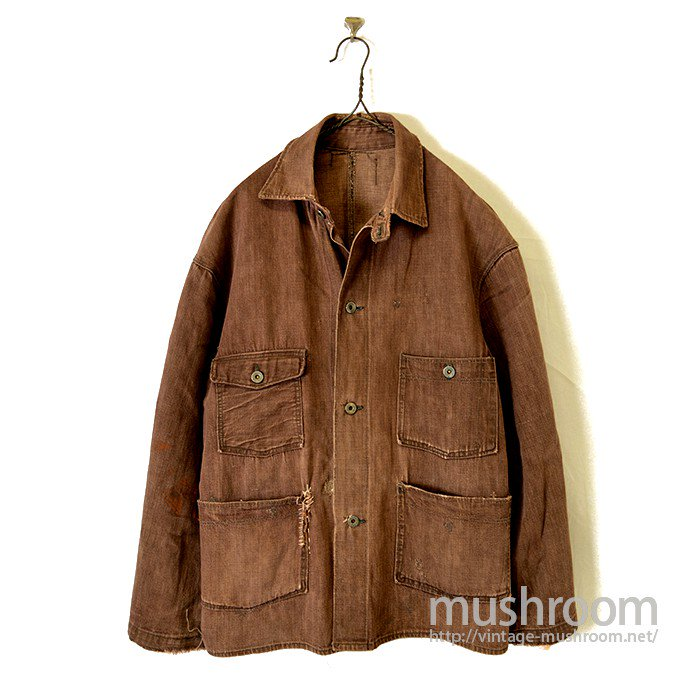 BEE HIVE BROWN DENIM COVERALL