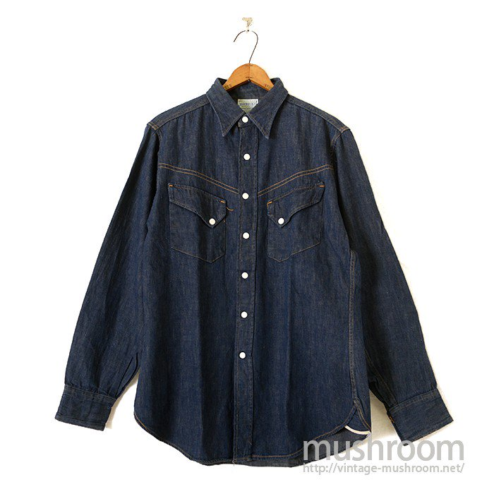 ROEBUCKS  DENIM WESTERN SHIRT( MINT )