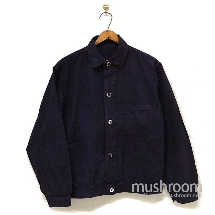 OLD OFF-SET TWO POCKET OVERDYE COTTON WORK JACKET