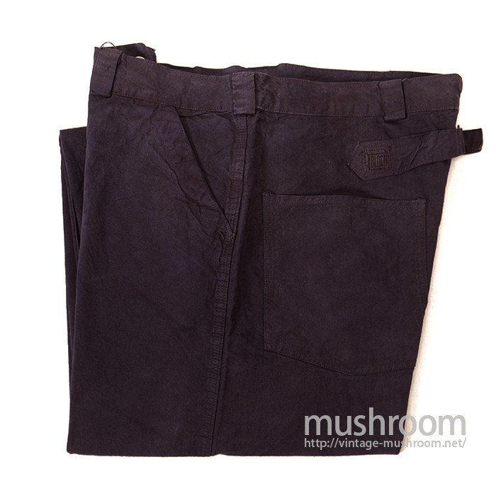 BLOCH BRAND OVERDYE COTTON WORK TROUSER WITH BUCKLEBACK