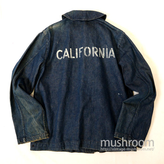 U.S.NAVY DUNGAREE DENIM JACKET WITH STENCIL