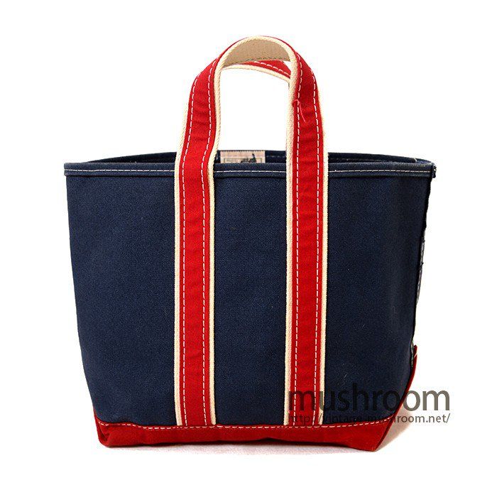 L.L.BEAN CANVAS TOTE BAG( NAVY&RED/MINT )