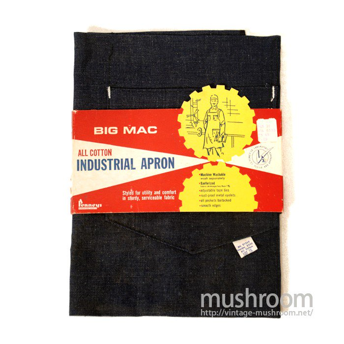 PENNEY'S BIG MAC DENIM WORK APRON( DEADSTOCK )