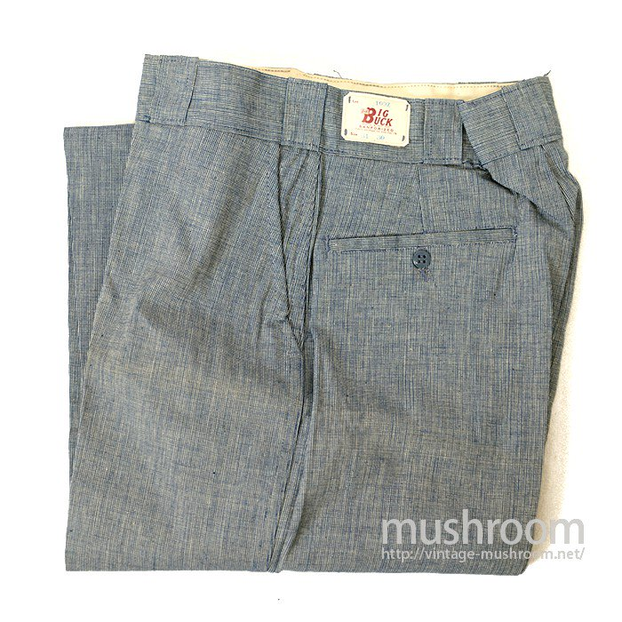 BIG BUCK PIN-CHECK WORK TROUSER( DEADSTOCK )