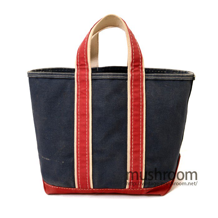 L.L.BEAN TWO-TONE CANVAS TOTE BAG( NAVY AND RED  )
