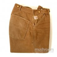 CARHARTT BROWN DUCK WORK TROUSER WITH BLANKET LININNG