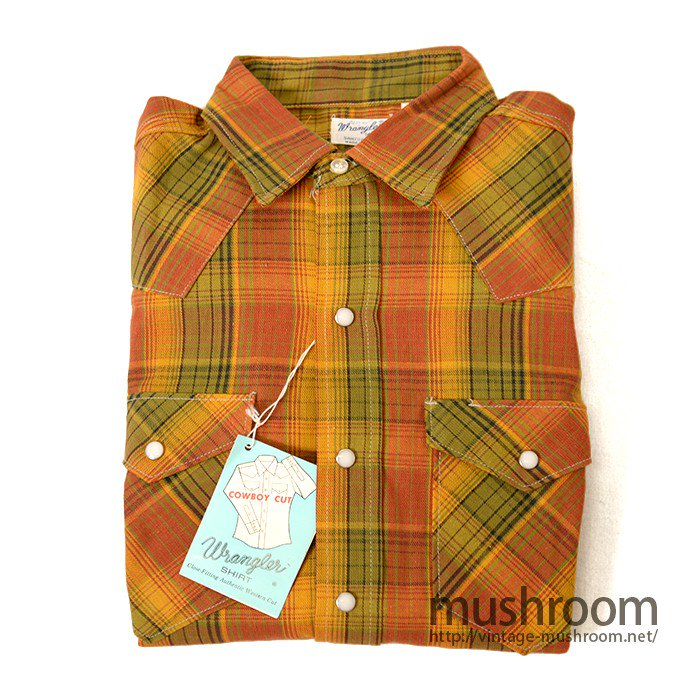 WRANGLER 800MW  PLAID COTTON WESTERN SHIRT( DEADSTOCK )