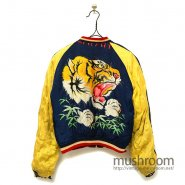 JAPAN SOUVENIR JACKET( TIGER FACE/HAND-PRINTED )