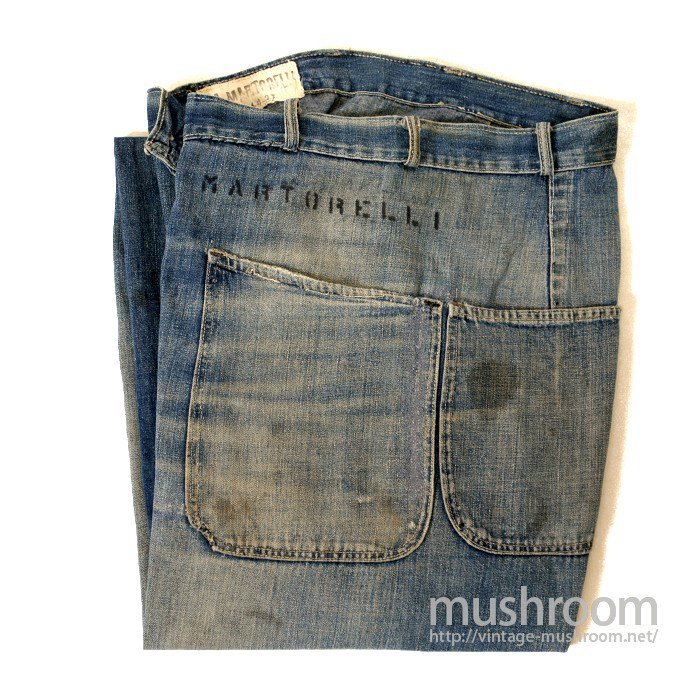 WW2 U.S.NAVY DENIM TROUSER WITH STENCIL