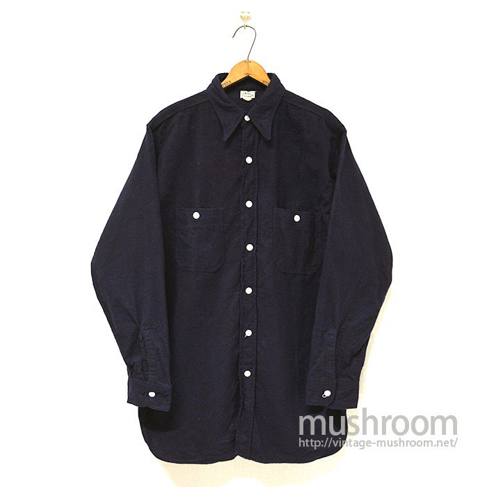 J.C.PENNEY  FLANNEL WORK SHIRT( ONE-WASHED )