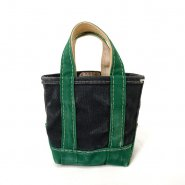 L.L.BEAN TWO-TONE CANVAS TOTE BAG( NAVY AND GREEN  )
