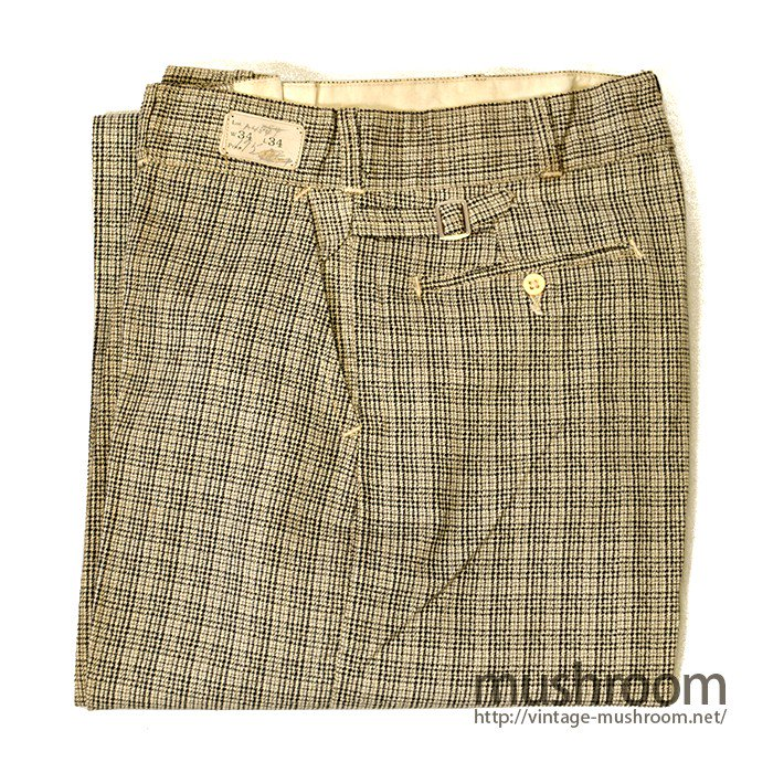 OLD PLAID COTTON WORK TROUSERS( STIFEL/DEDSTOCK )