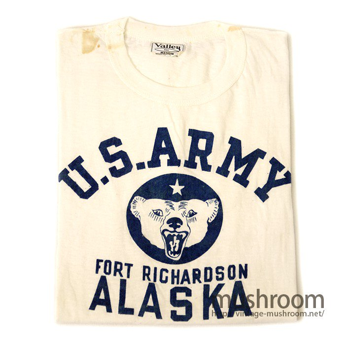 U.S.ARMY FLOCK-PRINT T-SHIRT( DEADSTOCK )