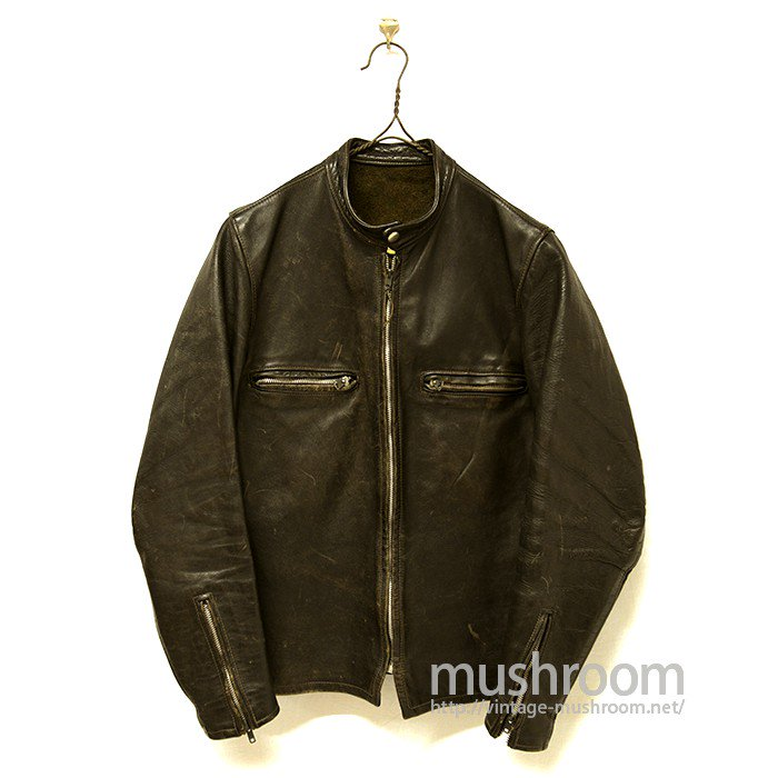 BUCO J-100 CAFE RACER LEATHER JACKET( WHITE TAG )