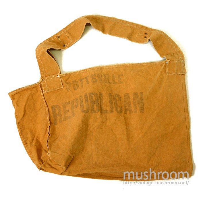 OLD BROWN DUCK NEWSPAPER BAG