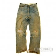 STAG GOLD BACK DENIM WAIST-OVERALLS