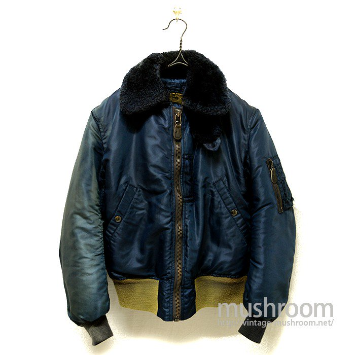 B-15C FLIGHT JACKET WITH FADING SLEEVE KNIT RIB