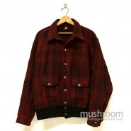 JOHN RICH & BROS PLAID WOOL A-1 STYLE JACKET( MINT )