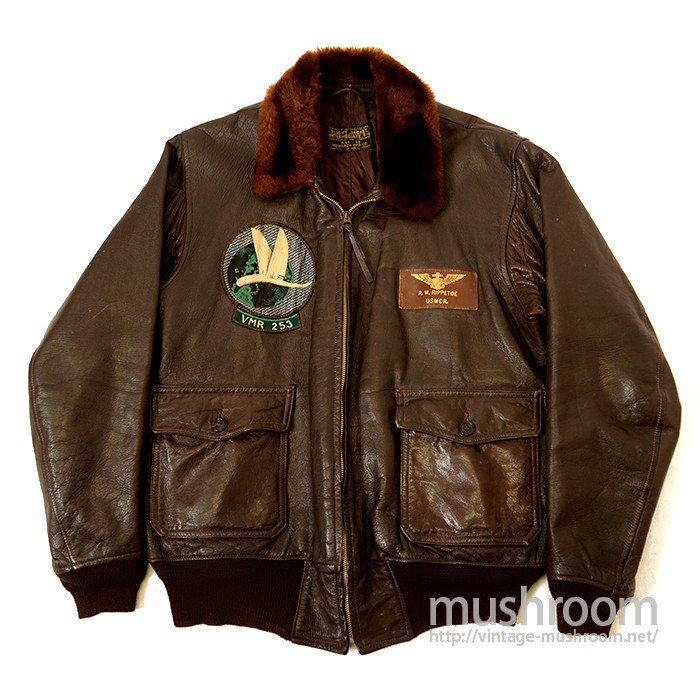 U.S.NAVY 7823 FLIGHT JACKET WITH SQUARON PATCH( MINT )
