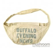 OLD NEWSPAPER CANVAS BAG( BUFFALO EVENING NEWS )