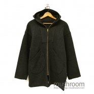OLD HOODED ATHLETIC WOOL COAT