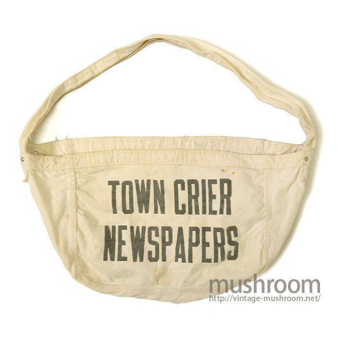 OLD NEWSPAPER CANVAS BAG( TOWN CRIER NEWSPAPERS )